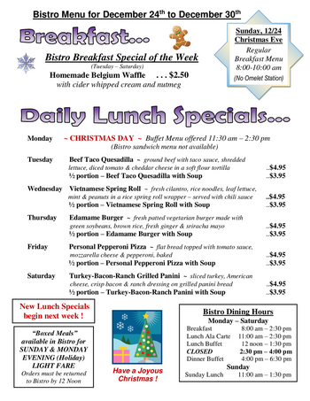 Dining menu of The Highlands at Wyomissing, Assisted Living, Nursing Home, Independent Living, CCRC, Wyomissing, PA 9