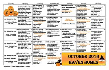 Activity Calendar of Haven Homes Maple Plain, Assisted Living, Nursing Home, Independent Living, CCRC, Maple Plain, MN 5