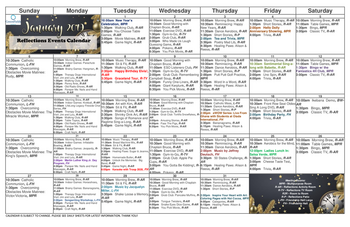 Activity Calendar of GreenFields of Geneva, Assisted Living, Nursing Home, Independent Living, CCRC, Geneva, IL 2