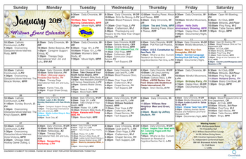 Activity Calendar of GreenFields of Geneva, Assisted Living, Nursing Home, Independent Living, CCRC, Geneva, IL 3