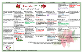 Activity Calendar of GreenFields of Geneva, Assisted Living, Nursing Home, Independent Living, CCRC, Geneva, IL 4