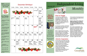 Activity Calendar of GreenFields of Geneva, Assisted Living, Nursing Home, Independent Living, CCRC, Geneva, IL 6
