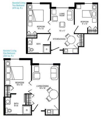 Floorplan of Genacross Lutheran Services Wolf Creek, Assisted Living, Nursing Home, Independent Living, CCRC, Holland, OH 2