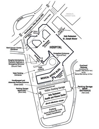Campus Map of Holy Redeemer St. Josephs Manor, Assisted Living, Nursing Home, Independent Living, CCRC, Meadowbrooke, PA 1