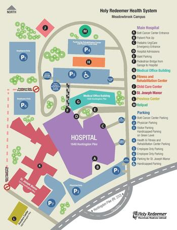 Campus Map of Holy Redeemer St. Josephs Manor, Assisted Living, Nursing Home, Independent Living, CCRC, Meadowbrooke, PA 2