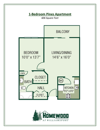 Floorplan of Homewood at Williamsport, Assisted Living, Nursing Home, Independent Living, CCRC, Williamsport, MD 1