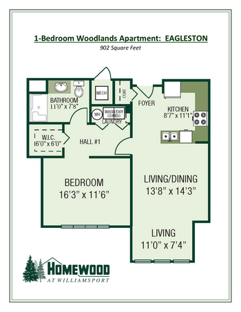 Floorplan of Homewood at Williamsport, Assisted Living, Nursing Home, Independent Living, CCRC, Williamsport, MD 5