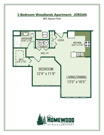 Floorplan of Homewood at Williamsport, Assisted Living, Nursing Home, Independent Living, CCRC, Williamsport, MD 7