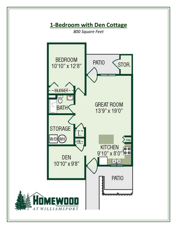 Floorplan of Homewood at Williamsport, Assisted Living, Nursing Home, Independent Living, CCRC, Williamsport, MD 2