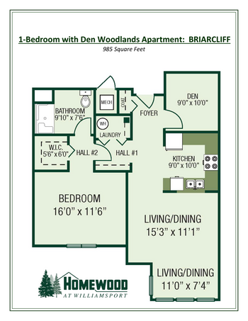 Floorplan of Homewood at Williamsport, Assisted Living, Nursing Home, Independent Living, CCRC, Williamsport, MD 3