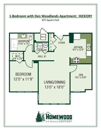Floorplan of Homewood at Williamsport, Assisted Living, Nursing Home, Independent Living, CCRC, Williamsport, MD 4