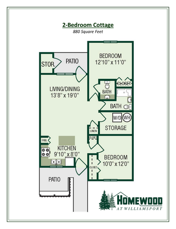 Floorplan of Homewood at Williamsport, Assisted Living, Nursing Home, Independent Living, CCRC, Williamsport, MD 8