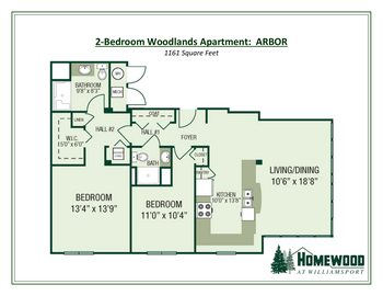 Floorplan of Homewood at Williamsport, Assisted Living, Nursing Home, Independent Living, CCRC, Williamsport, MD 13