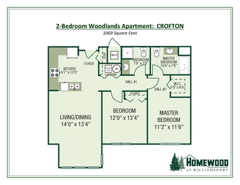 Floorplan of Homewood at Williamsport, Assisted Living, Nursing Home, Independent Living, CCRC, Williamsport, MD 14
