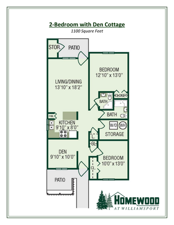 Floorplan of Homewood at Williamsport, Assisted Living, Nursing Home, Independent Living, CCRC, Williamsport, MD 12