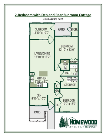 Floorplan of Homewood at Williamsport, Assisted Living, Nursing Home, Independent Living, CCRC, Williamsport, MD 10