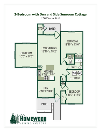 Floorplan of Homewood at Williamsport, Assisted Living, Nursing Home, Independent Living, CCRC, Williamsport, MD 11