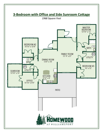 Floorplan of Homewood at Williamsport, Assisted Living, Nursing Home, Independent Living, CCRC, Williamsport, MD 16