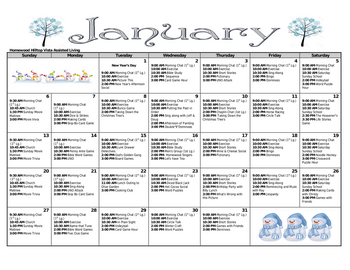 Activity Calendar of Homewood at Williamsport, Assisted Living, Nursing Home, Independent Living, CCRC, Williamsport, MD 3