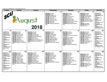 Activity Calendar of Homewood at Williamsport, Assisted Living, Nursing Home, Independent Living, CCRC, Williamsport, MD 13