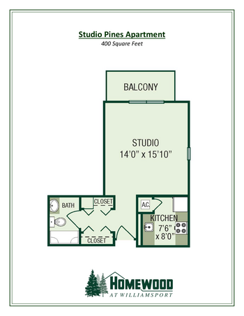 Floorplan of Homewood at Williamsport, Assisted Living, Nursing Home, Independent Living, CCRC, Williamsport, MD 17