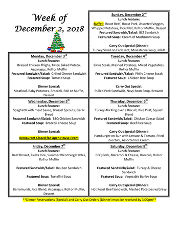 Dining menu of Homewood at Williamsport, Assisted Living, Nursing Home, Independent Living, CCRC, Williamsport, MD 10