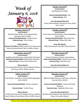Dining menu of Homewood at Williamsport, Assisted Living, Nursing Home, Independent Living, CCRC, Williamsport, MD 15