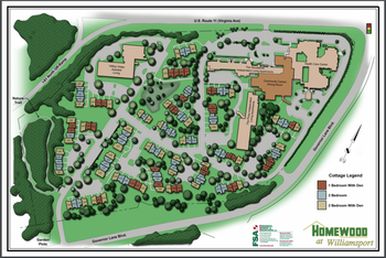 Campus Map of Homewood at Williamsport, Assisted Living, Nursing Home, Independent Living, CCRC, Williamsport, MD 2