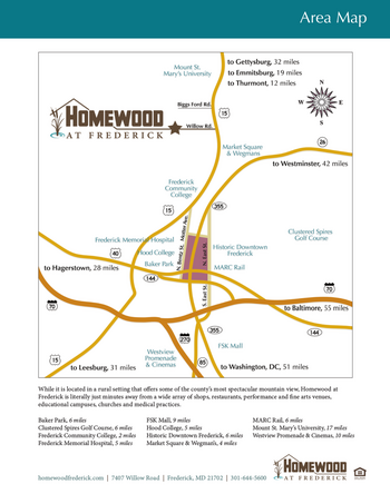 Campus Map of Homewood at Frederick, Assisted Living, Nursing Home, Independent Living, CCRC, Frederick, MD 2