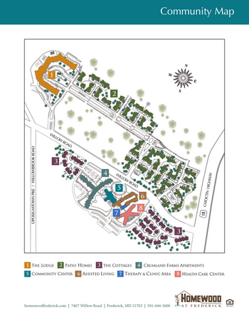 Campus Map of Homewood at Frederick, Assisted Living, Nursing Home, Independent Living, CCRC, Frederick, MD 3