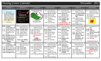 Activity Calendar of Westminster at Lake Ridge, Assisted Living, Nursing Home, Independent Living, CCRC, Lake Ridge, VA 8