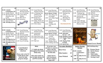 Activity Calendar of Westminster at Lake Ridge, Assisted Living, Nursing Home, Independent Living, CCRC, Lake Ridge, VA 9