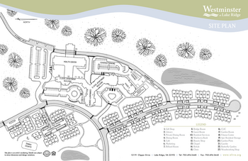 Campus Map of Westminster at Lake Ridge, Assisted Living, Nursing Home, Independent Living, CCRC, Lake Ridge, VA 1