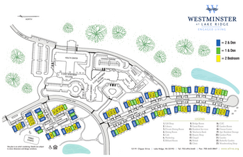 Campus Map of Westminster at Lake Ridge, Assisted Living, Nursing Home, Independent Living, CCRC, Lake Ridge, VA 5