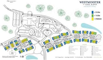 Campus Map of Westminster at Lake Ridge, Assisted Living, Nursing Home, Independent Living, CCRC, Lake Ridge, VA 4