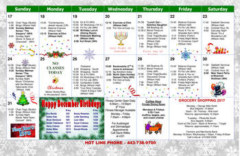 Activity Calendar of North Oaks, Assisted Living, Nursing Home, Independent Living, CCRC,  Pikesville, MD 2
