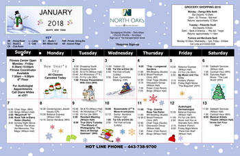 Activity Calendar of North Oaks, Assisted Living, Nursing Home, Independent Living, CCRC,  Pikesville, MD 3
