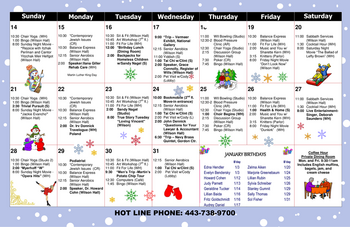 Activity Calendar of North Oaks, Assisted Living, Nursing Home, Independent Living, CCRC,  Pikesville, MD 4