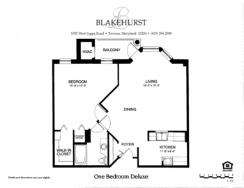 Floorplan of Blakehurst, Assisted Living, Nursing Home, Independent Living, CCRC, Towson, MD 1