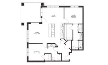 Floorplan of Lakewood, Assisted Living, Nursing Home, Independent Living, CCRC, Richmond, VA 17