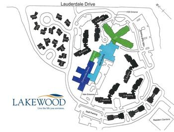 Campus Map of Lakewood, Assisted Living, Nursing Home, Independent Living, CCRC, Richmond, VA 2