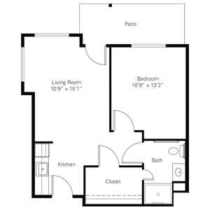 Floorplan of Heisinger Bluffs, Assisted Living, Nursing Home, Independent Living, CCRC, Jefferson City, MO 1