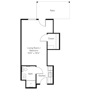 Floorplan of Heisinger Bluffs, Assisted Living, Nursing Home, Independent Living, CCRC, Jefferson City, MO 2
