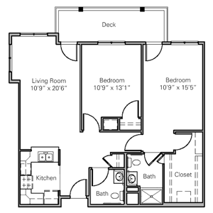 Floorplan of Heisinger Bluffs, Assisted Living, Nursing Home, Independent Living, CCRC, Jefferson City, MO 4