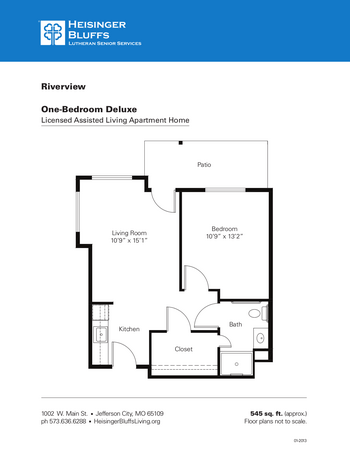 Floorplan of Heisinger Bluffs, Assisted Living, Nursing Home, Independent Living, CCRC, Jefferson City, MO 5