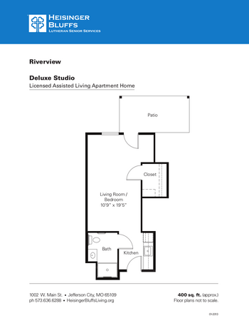 Floorplan of Heisinger Bluffs, Assisted Living, Nursing Home, Independent Living, CCRC, Jefferson City, MO 6