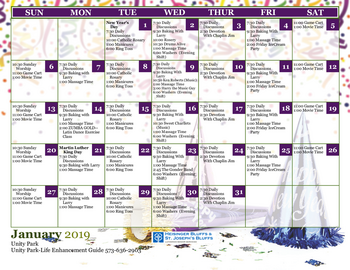 Activity Calendar of Heisinger Bluffs, Assisted Living, Nursing Home, Independent Living, CCRC, Jefferson City, MO 11