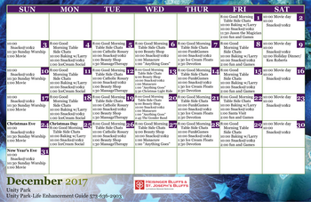 Activity Calendar of Heisinger Bluffs, Assisted Living, Nursing Home, Independent Living, CCRC, Jefferson City, MO 10