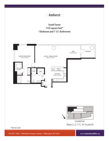 Floorplan of Saint John on the Lake, Assisted Living, Nursing Home, Independent Living, CCRC, Milwaukee, WI 2