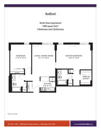 Floorplan of Saint John on the Lake, Assisted Living, Nursing Home, Independent Living, CCRC, Milwaukee, WI 5